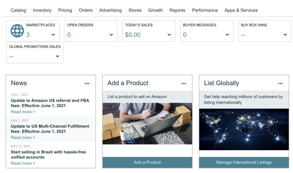 amazon seller central access performance feedback ratings count list your product